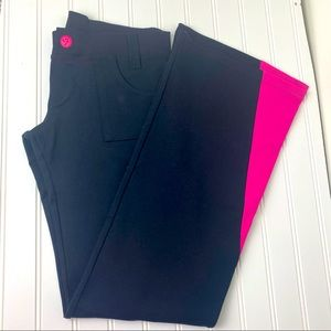 Zumba Black & Pink Workout flare Pants low rise